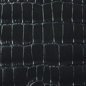 Alligator brillant noir intense