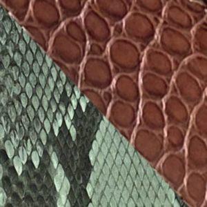 Python naturel et alligator marron chocolat
