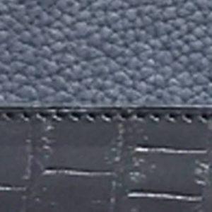 Taurillon tannage végétal et alligator bleu marine et noir